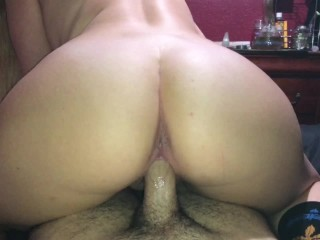 Free audition sex videos thick blonde babe riding daddy in reverse cowgirl and making him cum hard, big ass big tits fat ass wet pussy