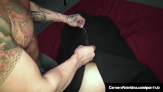 Hot Carmen Valentina Blindfolded, Stuffed In Bag & Fucked!