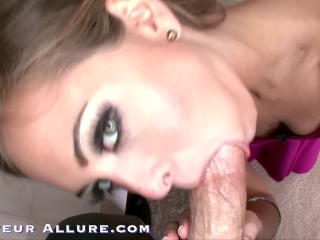 Riley Reid Gives Sloppy Blowjob, Gets Fucked and Swallows 2 Hot Cum Loads