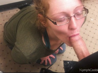 Redhead MILF Ivy Sucks Hubby off in a Public Changing Room CIM