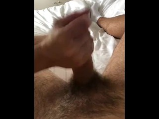 Girlfriend milks my cock with sloppy handjob