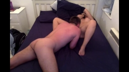Boyfriend fingers ass and pussy while licking my clit as I climax