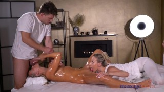 Massage blonde soaked sensual threesome czech rooms oil ffm 9 pure
