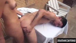 Blonde Tranny Samara de Macedo and a Dude Drill Each Others Assholes