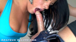 Amateur Allure - Sexy Adriana Chechik Sloppy Blowjob, Fucking TWO Cumshots