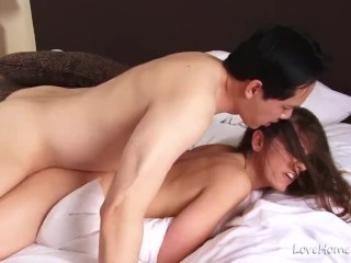 Foto porno luna maya hottie loves to get fucked after sucking cock, lovehomeporn amateur homemade brunette blowjob shaved