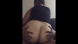 Phat Booty Asian Ex Riding BBC  big booty big ass ass bbc homemade riding booty asian big milf interracial cowgirl brunette phat wobbly ass phat ass