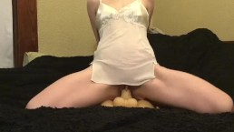Fox cumming on her fuck doll