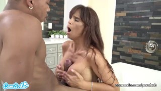 Bath fucks on stepson him spying mom in after black step whooty