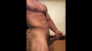 His off stud sexy balls he drains jerking until lightskin hunk