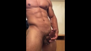 Stud drains he until off jerking his sexy balls cumshot fapping