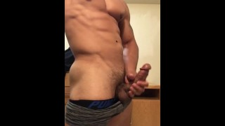 Drains balls stud sexy off jerking his until he cock lightskin