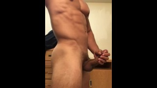 Sexy stud jerking off until he drains his balls Of fuck