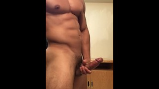 Sexy stud jerking off until he drains his balls Cock anal