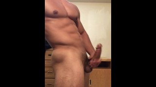 Sexy stud jerking off until he drains his balls porno