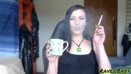 Cigarette smoking in my office until I choke on smoke - teaser