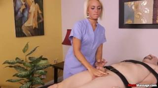 Blake Carter The Feisty Femdom Babes Massage Session Blonde hardcore