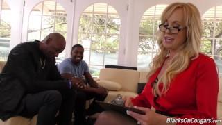 Cougar Brandi Love's Meeting Turns Into Interracial Threesome