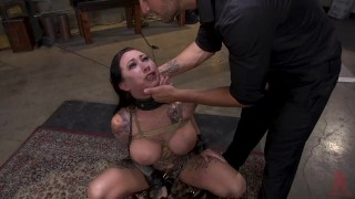 Tattoo Squirt Dynamo Lily Lane Bound in Rope Bondage and Fucked porno