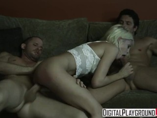 Licking Big Hairy Pussy Digital Playground - Riley Steele Gets Passed Around By Scott Nails &
