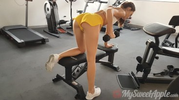 kim-and-paolo Work Out and Fuck in the Gym - POV MySweetApple