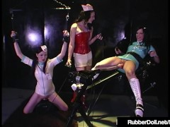 HN Rubberella Trains RubberDoll & Anastasia On Fuck Machines