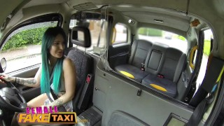 Female Fake Taxi Busty tattooed drivers ass fucked by Australian hunk