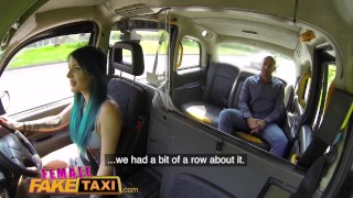 Female Fake Taxi Busty tattooed drivers ass fucked by Australian hunk porno