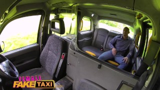 Female Fake Taxi Busty tattooed drivers ass fucked by Australian hunk Condom big