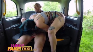 Female Fake Taxi Busty tattooed drivers ass fucked by Australian hunk Celestia bruce