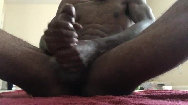 Home male dicks Home alone stroking my bbc with oil cumshot