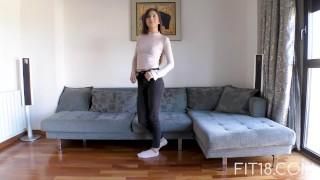 Fit18 - Anya Krey - 53kg - 173cm - Arab Teen Loves Gagging Big big