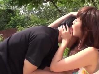【無】男を調教して野外生ハメまりか Marica