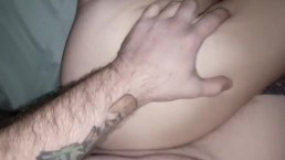 Step sister gets creampie while parents are asleep