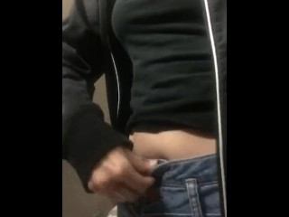Teaser while IN THE WORK BATHROOM
