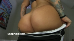 Worship Kleio Valentien big round ass and smell how good it smells.