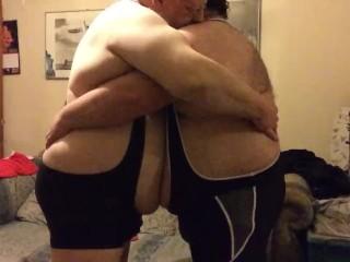 belly wrestle clip