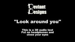 Look around you - a femdom themed 3D audio (Binaural) test