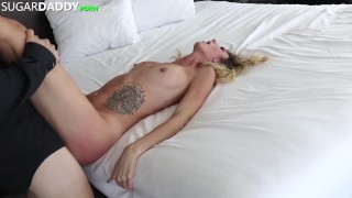 Sugar Daddy Pays Renee's Rent To Avoid Eviction in Exchange To FUCK. Cum tits