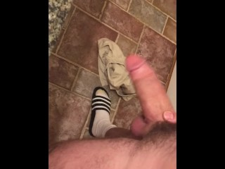 Shaking my big thick cock