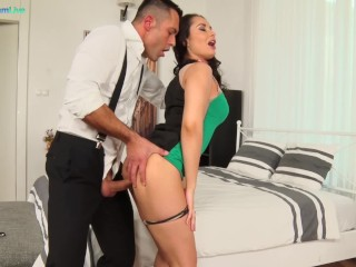 Gangbang hardcore nasty chick aurelly rebel getting screwed hard after party, pornstreamlive ass fuc