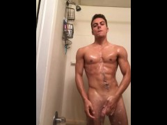 Horny Guy Wants to Cum After Shower