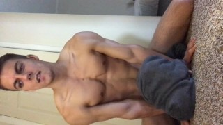 Guy to cum shower wants horny after hung solo