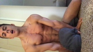 Horny Guy Wants to Cum After Shower Teen young