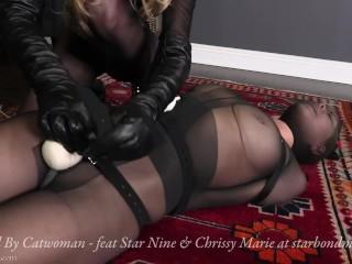 Encased By Catwoman - Nylon Encasement Bondage PREVIEW