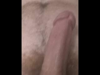 Stroking and sucking my cock