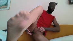 YOUNG GUY BIG COCK IN SEAMLESS PANTYHOSE ENCASEMENT