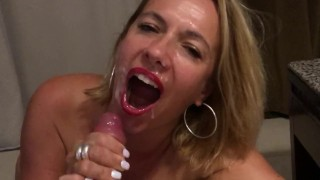 young school teacher mom gets a good cock and a huge facial by her student