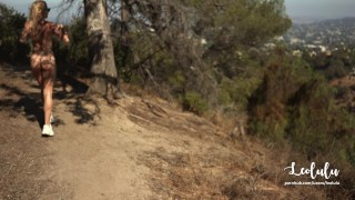 Preview 5 of Public Sex Naked on Hollywood's Hills - Amateur Couple Outdoor LeoLulu