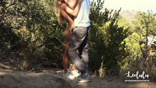 Preview 6 of Public Sex Naked on Hollywood's Hills - Amateur Couple Outdoor LeoLulu